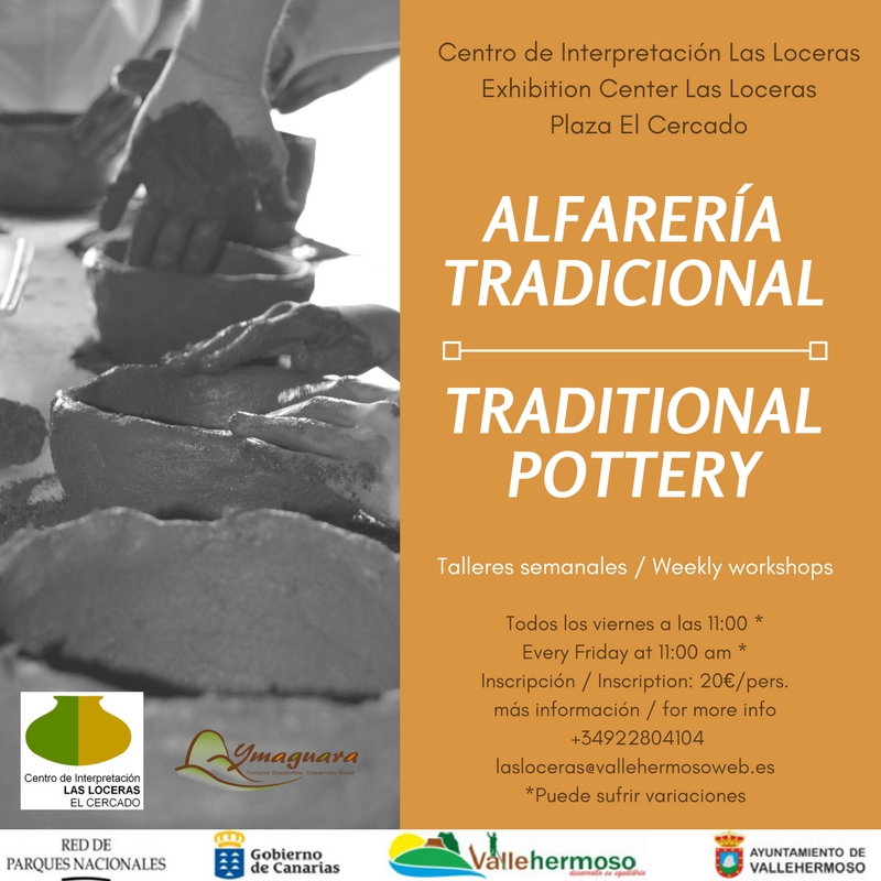 Nueva actividad: Talleres de Alfarería Tradicional | New activity: Traditional Pottery Workshops